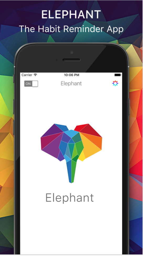 Elephant The Habit Reminder App